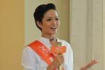Hoa hậu H'Hen Niê: 'Lần sau tôi sẽ chạy xe đạp về thăm quê'