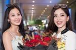 Á hậu Phương Nga vỡ òa khi được Hoa hậu Tiểu Vy đón ở sân bay