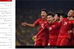 Báo Iran: 'Lạ như Việt Nam, toàn người vô danh cũng mơ vô địch'
