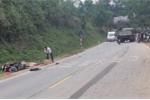 Xe máy đối đầu xe tải, nam thanh niên thiệt mạng