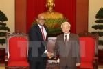 Tổng Bí thư Nguyễn Phú Trọng tiếp Đại sứ Cộng hòa Cuba