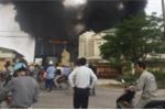 Cháy lớn thiêu rụi nhà máy thiết bị điện tại Thái Bình