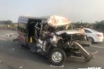 Hàng loạt ô tô biến dạng sau tai nạn liên hoàn trên cao tốc TP.HCM - Long Thành - Dầu Giây