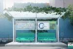 Độc đáo ý tưởng trạm xe buýt xanh thông minh