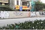 Ảnh: Con đường hơn 300 tỷ đồng ở Hà Nội bị bôi bẩn