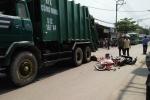 Nam sinh bị xe chở rác cán chết trên đường đi mua hoa Tết