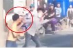 Clip: Đuổi đánh vợ trên đường, gã chồng vũ phu lĩnh cái kết đắng
