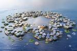 Thành phố nổi trên mặt nước chứa 10.000 dân, chống được siêu bão và sóng thần