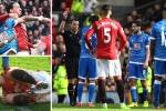 Ibrahimovic đánh nguội, tại sao đội trưởng Bournemouth phải nhận thẻ đỏ?