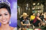 Người thân, hàng xóm tụ họp chuẩn bị bữa cơm đón Hoa hậu H'Hen Niê về nhà