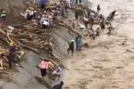 Clip: Lũ cuồn cuộn chảy xiết, dân Yên Bái vẫn liều lĩnh lao ra vớt củi