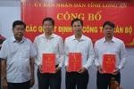 Bổ nhiệm nhân sự mới ở Long An và Quảng Ninh