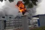 Clip: Cháy lớn ở khu công nghiệp Yên Phong, Bắc Ninh