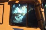 Clip: 'Ma men' lái xe tải lao vào cảnh sát rồi ôm xà beng cố thủ trong cabin