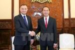Chủ tịch nước Trần Đại Quang hội đàm với Tổng thống Ba Lan Andrzej Duda