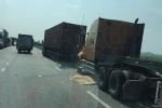 Xe container tông trực diện xe máy, hai người chết tại chỗ