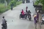 Clip: Xe container lao vào nhà dân khiến 1 bé gái chết tại chỗ, 4 người bị thương