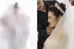 Cận cảnh bộ váy cưới đính 20.000 viên pha lê và đá Swarovski của Á hậu Tú Anh