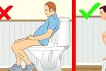 Video: Mách bạn tư thế ngồi bồn cầu chuẩn mực, tránh táo bón, ung thư