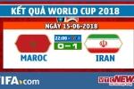 Kết quả Maroc vs Iran, Trận đấu bảng B bóng đá World Cup 2018