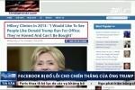 Facebook bị đổ lỗi 'tiếp tay' cho chiến thắng của Donald Trump