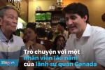 Video: Thủ tướng Canada Trudeau ngồi cà phê vỉa hè ở TP.HCM
