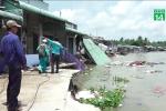 Video: Nhà sập xuống sông khi đang ngủ, hàng chục hộ dân tháo chạy