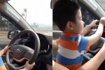 Mẹ khoe clip con trai 3 tuổi lái ô tô, bị dân mạng 'ném đá'