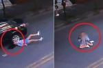 Clip: Sang đường bị ô tô tông ngã sấp mặt, cô gái lập tức ngồi dậy chỉnh tóc