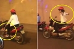 Clip: Thất kinh nữ 'ninja' vắt chân, lái xe máy buông 2 tay trong hầm Kim Liên