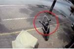 Clip: Xe Lead không người lái lao vun vút trên phố, đâm vào cây rồi đổ kềnh