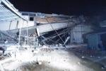 Công trình siêu thị đổ sập trong đêm, ít nhất 3 người bị thương