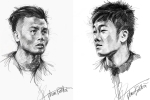 HLV Park Hang-seo và toàn đội U23 Việt Nam sống động qua tranh vẽ