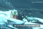 Xem ôtô thể thao trị giá 2 triệu USD lao vù vù dưới nước