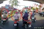 Clip: 3 ninja dừng đèn đỏ kết hợp tránh nắng, tài xế ô tô sốt ruột bóp còi