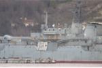 Tàu đổ bộ Nga bị tàu hàng đâm móp trên Địa Trung Hải