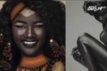 Cô gái da đen kỳ lạ trở thành người mẫu nổi tiếng thế giới