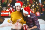 Tung ảnh Giáng sinh, Tú Vi hạnh phúc khoe mang thai con đầu lòng sau 2 năm đám cưới