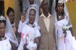 Video: Không đủ tiền làm đám cưới riêng, người đàn ông cưới 3 vợ cùng lúc