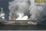 Thế giới 24h: Tàu Trung Quốc bốc cháy ở biển Nhật