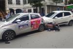Video: 7 ô tô, xe máy đâm liên hoàn, giao thông ùn tắc giờ cao điểm ở Hà Nội