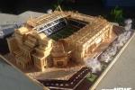 Sân vận động Old Trafford bằng tăm tre của nam sinh Vĩnh Phúc khiến dân mạng ngỡ ngàng