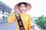 Chi Nguyễn mặc áo bà ba, một mình lên đường dự thi 'Hoa hậu Châu Á Thế giới 2018'