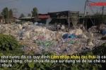 Video: Hãi hùng 'kinh đô' tái chế rác thải lớn nhất miền Bắc nhìn từ flycam