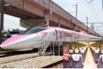Hé lộ hình ảnh tàu cao tốc màu hồng Hello Kitty đầu tiên của Nhật Bản