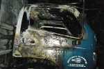 Kẻ gian phóng hoả thiêu rụi xe tải trong đêm ở Thanh Hoá