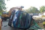 'Hố tử thần' trong công trình nuốt trọn xe tải chở đất