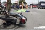Xe tải kéo lê xe máy hàng chục mét, 1 người chết tại chỗ