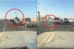 Dân chơi Ả Rập trình diễn lái ôtô bằng 2 bánh và cái kết 'dập mặt'
