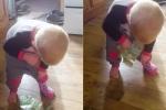 Clip: Cách giấu tiền 'khó đỡ' của em bé khiến người xem cười ngất
